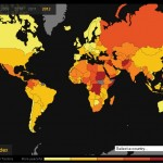 Mapa Global Peace Index - Indice Global de Paz