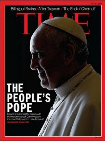 Revista Time con El Papa Francisco