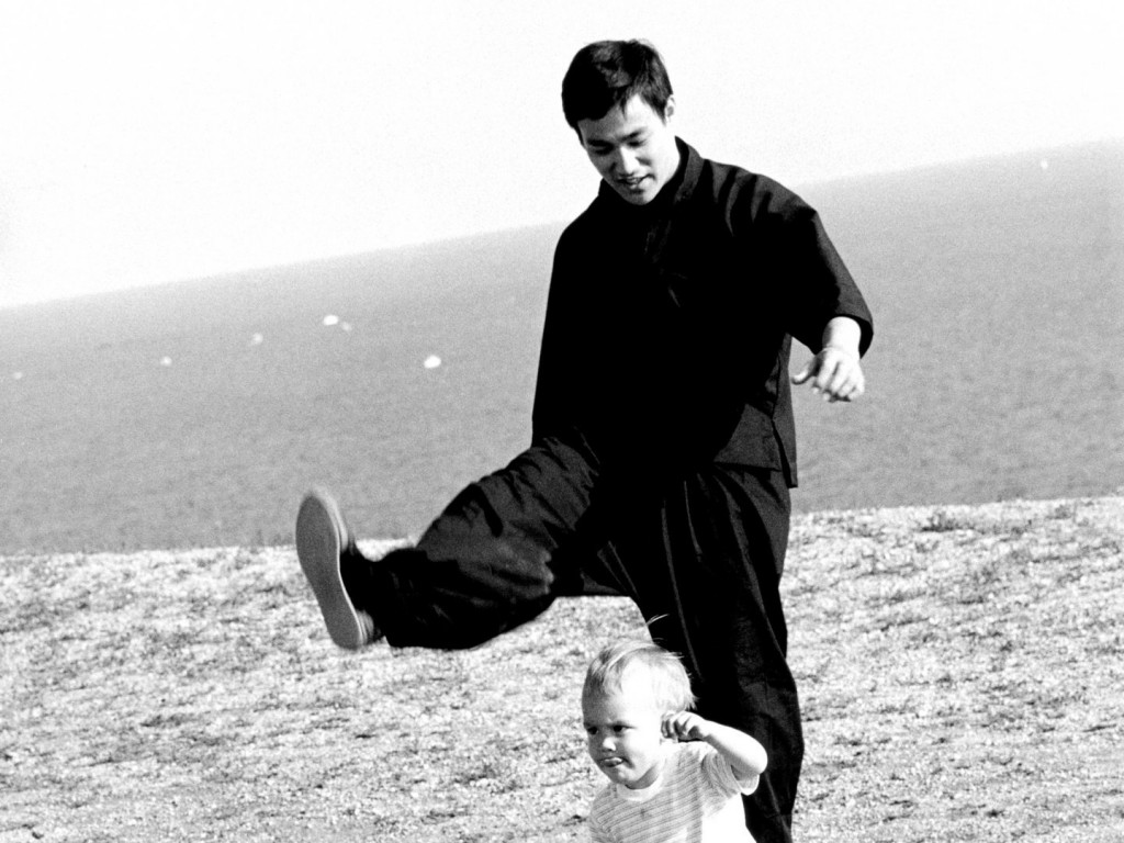 Bruce-lee con su hijo brandon lee