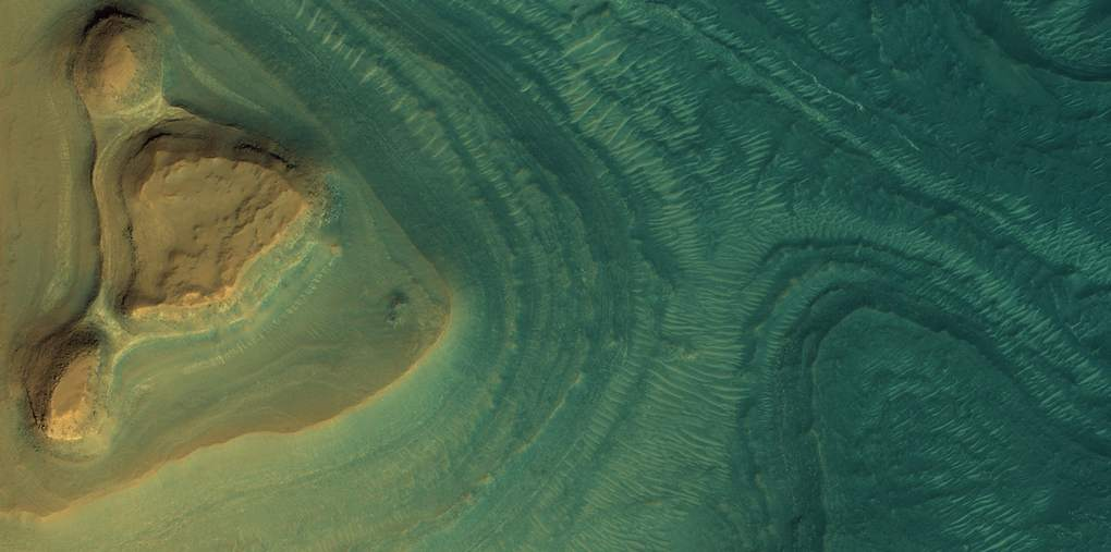 Mars Exposed layers of sediment at Nili Fossae, a group of large troughs