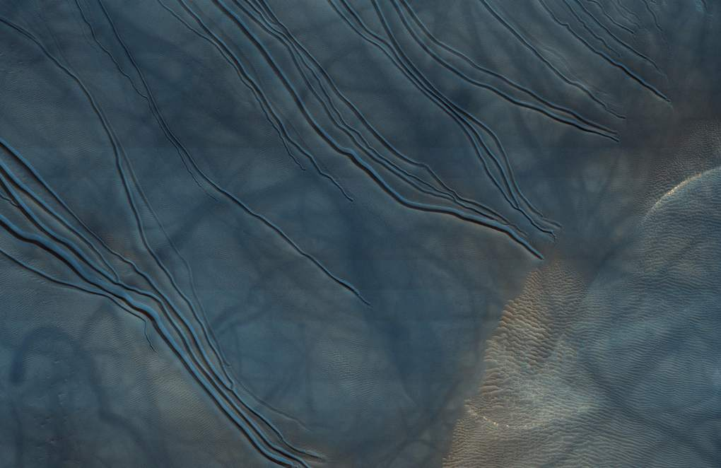 Marte Dunes at Russell Crater
