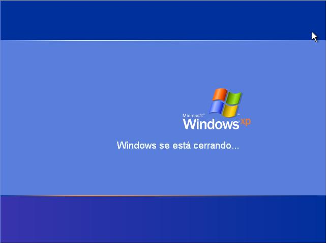 windows xp cerrando